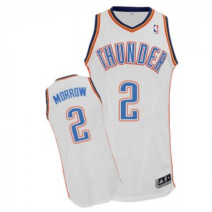 Oklahoma City Thunder #2 Adidas Home Blanc Authentic Maillot d'équipe de NBA en ligne - Anthony Morrow pour Homme