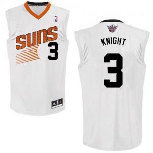 Phoenix Suns #3 Adidas Home Blanc Swingman Maillot d'équipe de NBA en ligne pas chers - Brandon Knight pour Homme