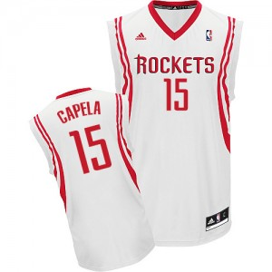 Maillot Adidas Blanc Home Swingman Houston Rockets - Clint Capela #15 - Homme