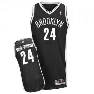 Maillot Adidas Noir Road Authentic Brooklyn Nets - Rondae Hollis-Jefferson #24 - Homme
