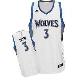 Maillot NBA Blanc Adreian Payne #3 Minnesota Timberwolves Home Swingman Homme Adidas