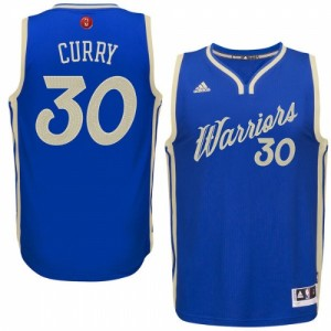 Golden State Warriors #30 Adidas 2015-16 Christmas Day Bleu royal Authentic Maillot d'équipe de NBA à vendre - Stephen Curry pour Homme