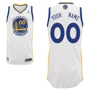 Maillot NBA Authentic Personnalisé Golden State Warriors Home Blanc - Homme