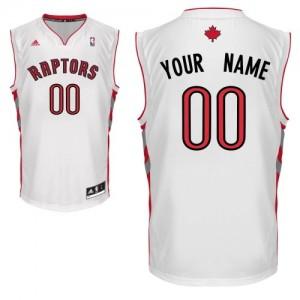 Maillot NBA Toronto Raptors Personnalisé Swingman Blanc Adidas Home - Enfants