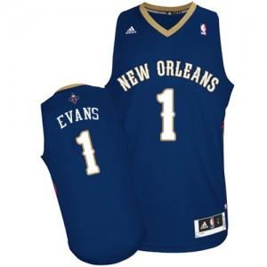 New Orleans Pelicans #1 Adidas Road Bleu marin Swingman Maillot d'équipe de NBA 100% authentique - Tyreke Evans pour Homme