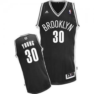 Brooklyn Nets #30 Adidas Road Noir Swingman Maillot d'équipe de NBA la meilleure qualité - Thaddeus Young pour Enfants