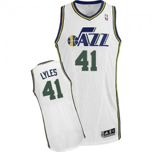 Maillot NBA Authentic Trey Lyles #41 Utah Jazz Home Blanc - Homme