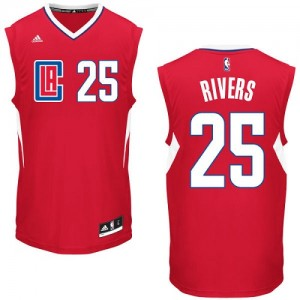 Maillot NBA Los Angeles Clippers #25 Austin Rivers Rouge Adidas Authentic Road - Homme