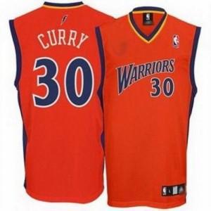 Golden State Warriors Stephen Curry #30 Swingman Maillot d'équipe de NBA - Orange pour Homme