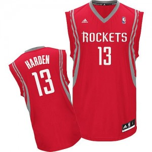 Houston Rockets James Harden #13 Road Swingman Maillot d'équipe de NBA - Rouge pour Homme