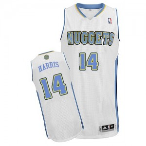 Maillot NBA Denver Nuggets #14 Gary Harris Blanc Adidas Authentic Home - Homme
