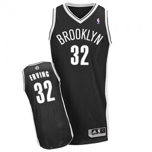 Maillot Adidas Noir Road Authentic Brooklyn Nets - Julius Erving #32 - Homme