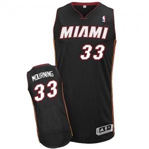 Miami Heat Alonzo Mourning #33 Road Authentic Maillot d'équipe de NBA - Noir pour Homme