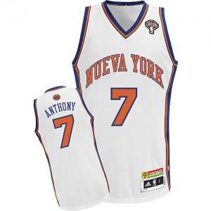 Maillot NBA Blanc Carmelo Anthony #7 New York Knicks Latin Nights Authentic Homme Adidas
