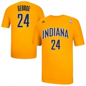 T-Shirt Indiana Pacers NBA Game Time Or - #24 Paul George - Homme