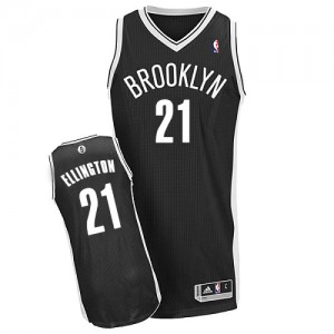 Maillot NBA Authentic Wayne Ellington #21 Brooklyn Nets Road Noir - Homme