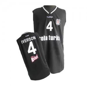 Maillot Authentic Philadelphia 76ers NBA Noir - #4 Allen Iverson - Homme