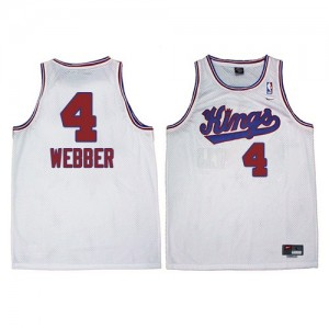 Maillot Adidas Blanc New Throwback Swingman Sacramento Kings - Chris Webber #4 - Homme