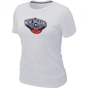 T-shirt principal de logo New Orleans Pelicans NBA Big & Tall Blanc - Femme