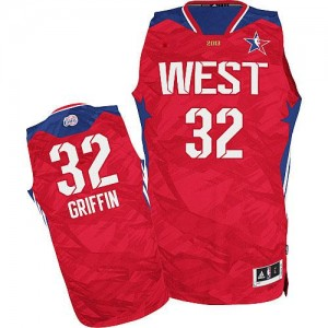 Maillot NBA Authentic Blake Griffin #32 Los Angeles Clippers 2013 All Star Rouge - Homme