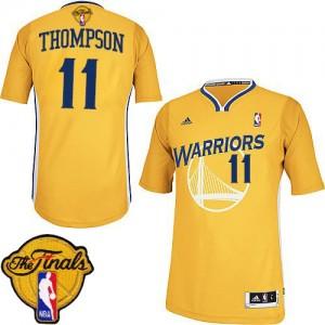 Golden State Warriors Klay Thompson #11 Alternate 2015 The Finals Patch Swingman Maillot d'équipe de NBA - Or pour Femme