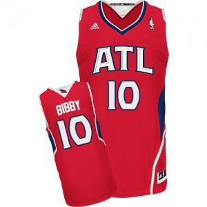 Atlanta Hawks #10 Adidas Alternate Rouge Swingman Maillot d'équipe de NBA pas cher - Mike Bibby pour Homme