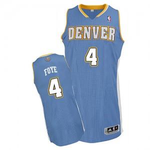 Maillot NBA Bleu clair Randy Foye #4 Denver Nuggets Road Authentic Homme Adidas