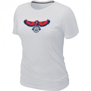 Atlanta Hawks Big & Tall Tee-Shirt d'équipe de NBA - Blanc pour Femme