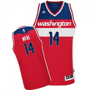 Maillot Adidas Rouge Road Swingman Washington Wizards - Gary Neal #14 - Homme