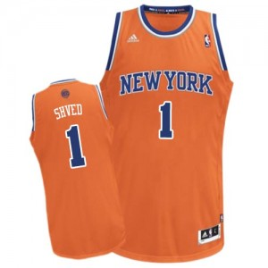 New York Knicks #1 Adidas Alternate Orange Swingman Maillot d'équipe de NBA Peu co?teux - Alexey Shved pour Homme
