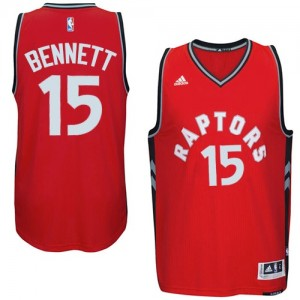Maillot Adidas Rouge climacool Authentic Toronto Raptors - Anthony Bennett #15 - Homme