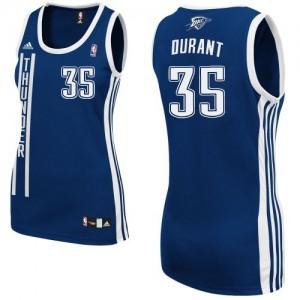 Oklahoma City Thunder Kevin Durant #35 Alternate Swingman Maillot d'équipe de NBA - Bleu marin pour Femme