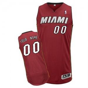 Miami Heat Authentic Personnalisé Alternate Maillot d'équipe de NBA - Rouge pour Homme