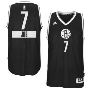 Brooklyn Nets #7 Adidas 2014-15 Christmas Day Noir Swingman Maillot d'équipe de NBA Discount - Joe Johnson pour Homme