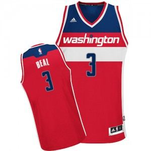 Maillot NBA Rouge Bradley Beal #3 Washington Wizards Road Swingman Homme Adidas