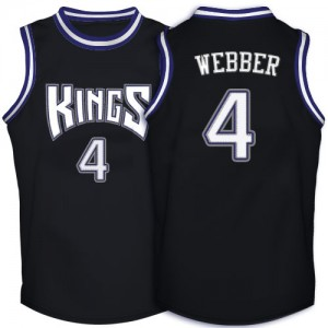 Maillot Swingman Sacramento Kings NBA Throwback Noir - #4 Chris Webber - Homme