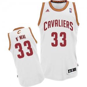 Cleveland Cavaliers #33 Adidas Home Blanc Swingman Maillot d'équipe de NBA Prix d'usine - Shaquille O'Neal pour Homme