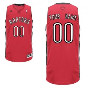 Maillot NBA Rouge Swingman Personnalisé Toronto Raptors Road Enfants Adidas