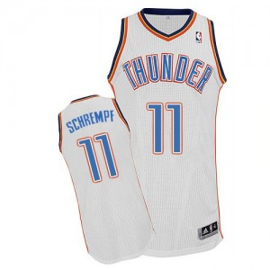 Maillot NBA Authentic Detlef Schrempf #11 Oklahoma City Thunder Home Blanc - Homme