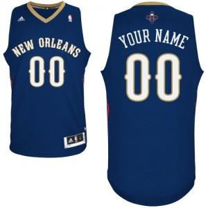 Maillot NBA Bleu marin Authentic Personnalisé New Orleans Pelicans Road Femme Adidas