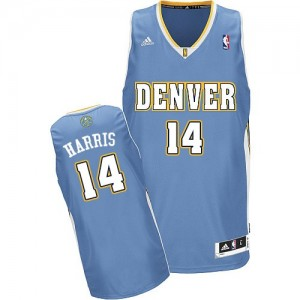 Maillot NBA Denver Nuggets #14 Gary Harris Bleu clair Adidas Swingman Road - Homme