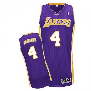 Maillot Adidas Violet Road Authentic Los Angeles Lakers - Byron Scott #4 - Homme