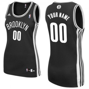 Maillot NBA Brooklyn Nets Personnalisé Swingman Noir Adidas Road - Femme