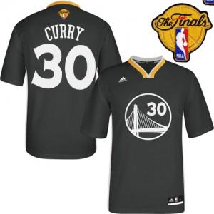 Golden State Warriors #30 Adidas Alternate 2015 The Finals Patch Noir Authentic Maillot d'équipe de NBA Prix d'usine - Stephen Curry pour Homme