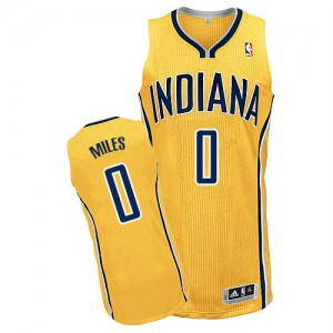 Indiana Pacers #0 Adidas Alternate Or Authentic Maillot d'équipe de NBA boutique en ligne - C.J. Miles pour Homme