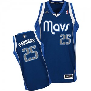 Maillot NBA Bleu marin Chandler Parsons #25 Dallas Mavericks Alternate Swingman Homme Adidas