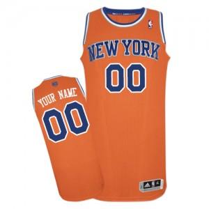 Maillot NBA Orange Authentic Personnalisé New York Knicks Alternate Enfants Adidas