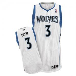 Minnesota Timberwolves Adreian Payne #3 Home Authentic Maillot d'équipe de NBA - Blanc pour Homme