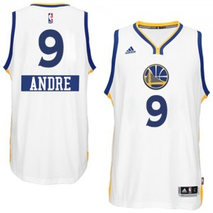 Maillot NBA Authentic Andre Iguodala #9 Golden State Warriors 2014-15 Christmas Day Blanc - Homme