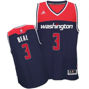 Maillot NBA Bleu marin Bradley Beal #3 Washington Wizards Alternate Authentic Homme Adidas